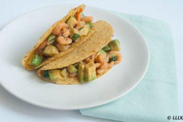 Recept: Taco's met garnalen en courgette