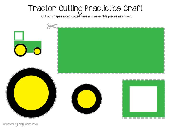 Tractor Cutting Practice Printable