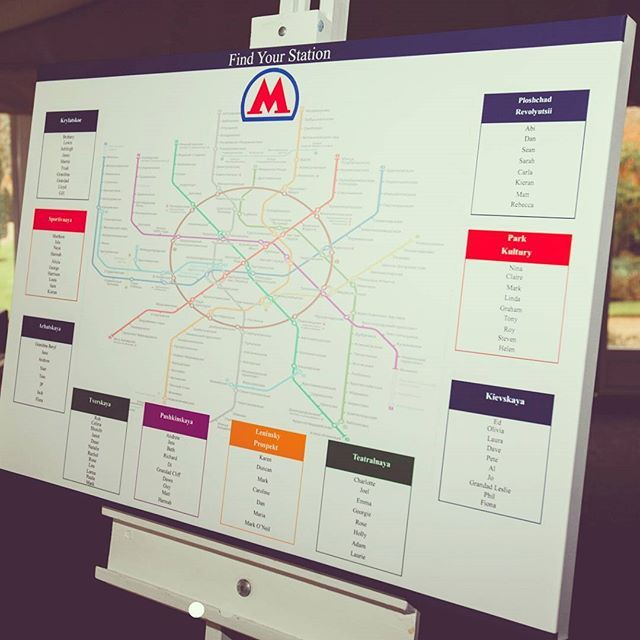 One of our custom designed table plans being used! It was the Moscow tube line! #weddingdeco #wedding #weddings #engagement #tabledecor #tabledecorations #tableplan #tableplans #tubemaps #weddingplan #weddingtableplan  Photography by: yana@yanaphotography.co.uk