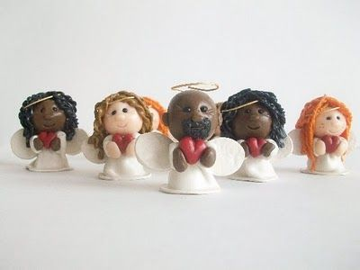 Great tutorial on polymer clay angels! They are also for sale in her Etsy shop.