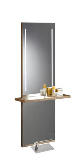 Contemporary dressing table / wooden / wall-mounted / for hairdressers LEDY 2034 BMP Srl