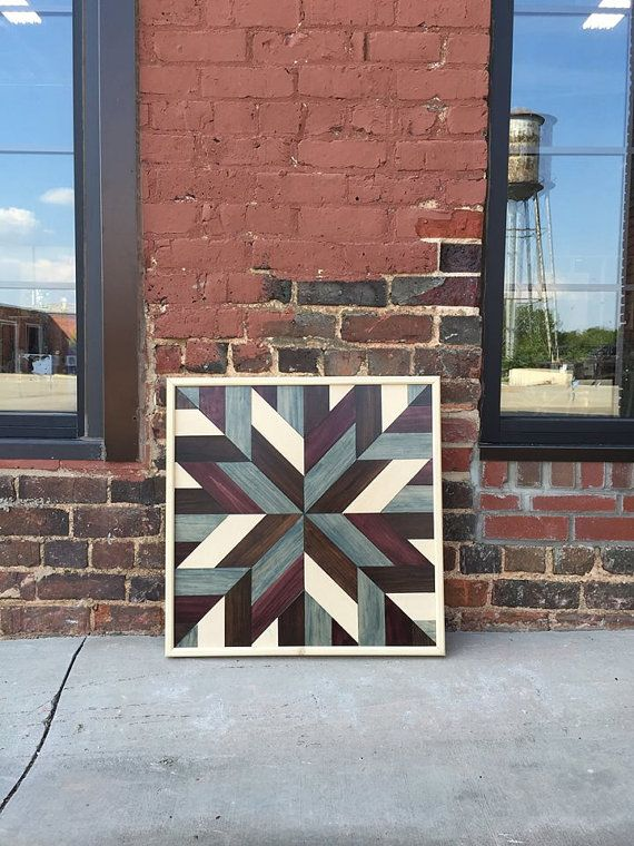Wood Wall Art Wood Wall Decor Barn Quilt Design by DanburyDesign