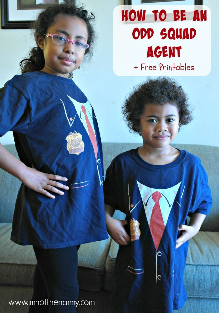 How to Be An Odd Squad Agent with activities &free printables via I'm Not the Nanny