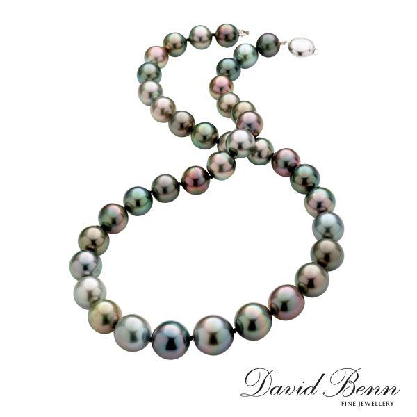 Multi Coloured Tahitian Pearl Necklet