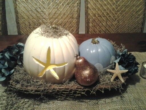 Fall centerpiece for dining room table.
