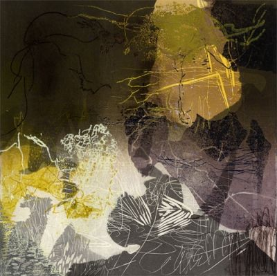 Joyce Silverstone, Dark Turn of Mind, relief print with monotype additions
