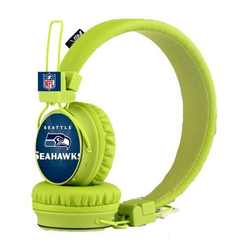 Seattle Seahawks Bluetooth , FM Radio and SD Card Headphones available at www.creativesportdesign.com and bonanza.com