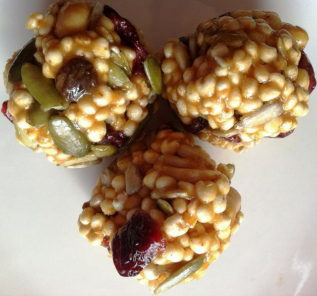 These Vegan Power Puffs are so puff-tastic! They feature millet which is fluffy, light and has more protein than puffed rice. Give it a whirl!