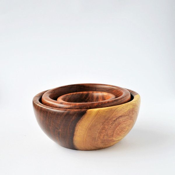 Bowls – Wooden bowls set: salad bowl, snack, condiment – a unique product by Omar-Handmade on DaWanda