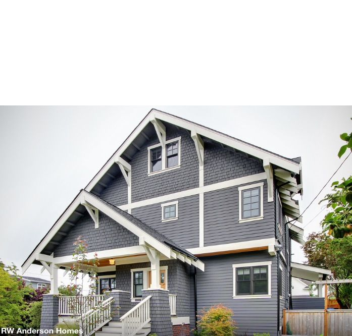 Parade Of Homes Paint Color Scheme And Tour: Dark Windows Siding Color Under Eaves Dark Gutters