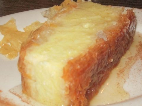 Greek custard dessert in Phyllo – Galaktoboureko