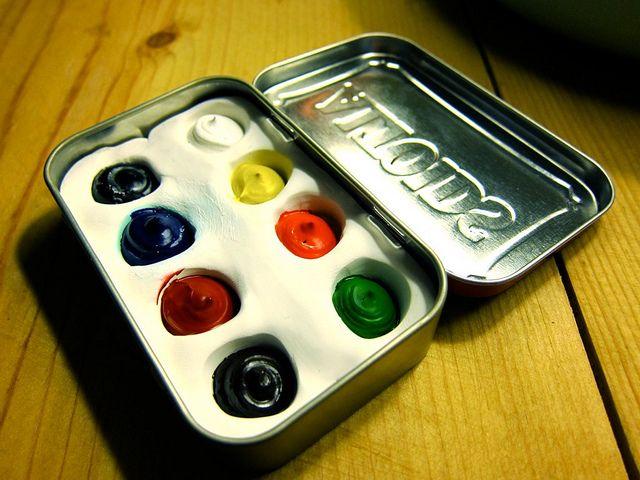 Altoids Tin Watercolor Set by thezenofmaking, via Flickr