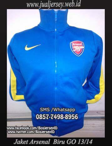 Jual Jaket Arsenal Biru Away Grade Ori 2013-2014 Terbaru & Termurah !!