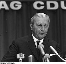 Kurt Georg Kiesinger (CDU), 1966-1969.  http://de.wikipedia.org/wiki/Kurt_Georg_Kiesinger