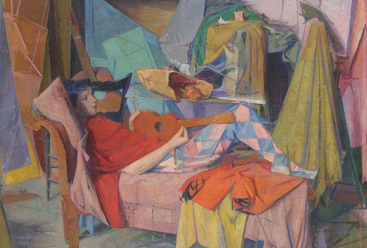 Giuseppe Capogrossi - Le due chitarre, 1948