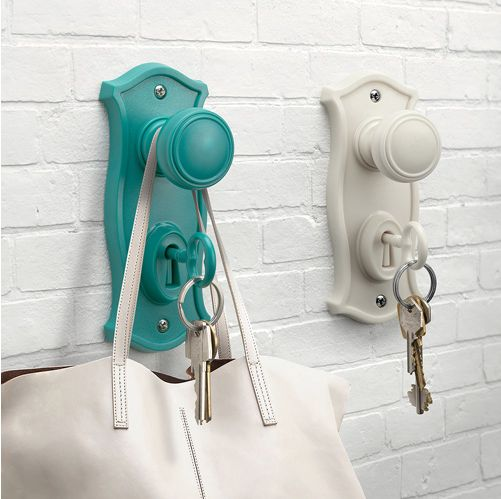 A quite literal doorknob and key hook so you never get locked out again.