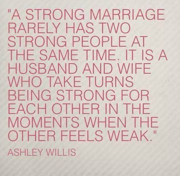 Strong marriage/ relationship