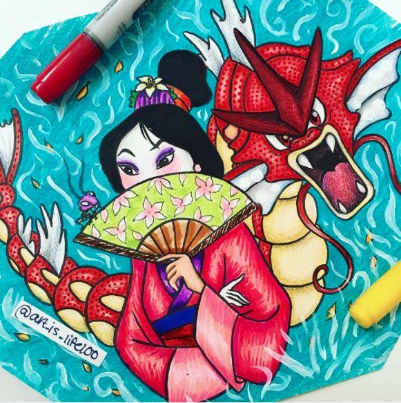 Mulan [feat. Cri-Kee] & Gyarados (Mash-Up by Art_Is_Life100 @Instagram) #Mulan