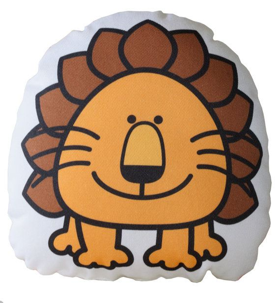 Brown Lion Cushion, Pillow, Soft Toy for Children.   www.bobomoo.com