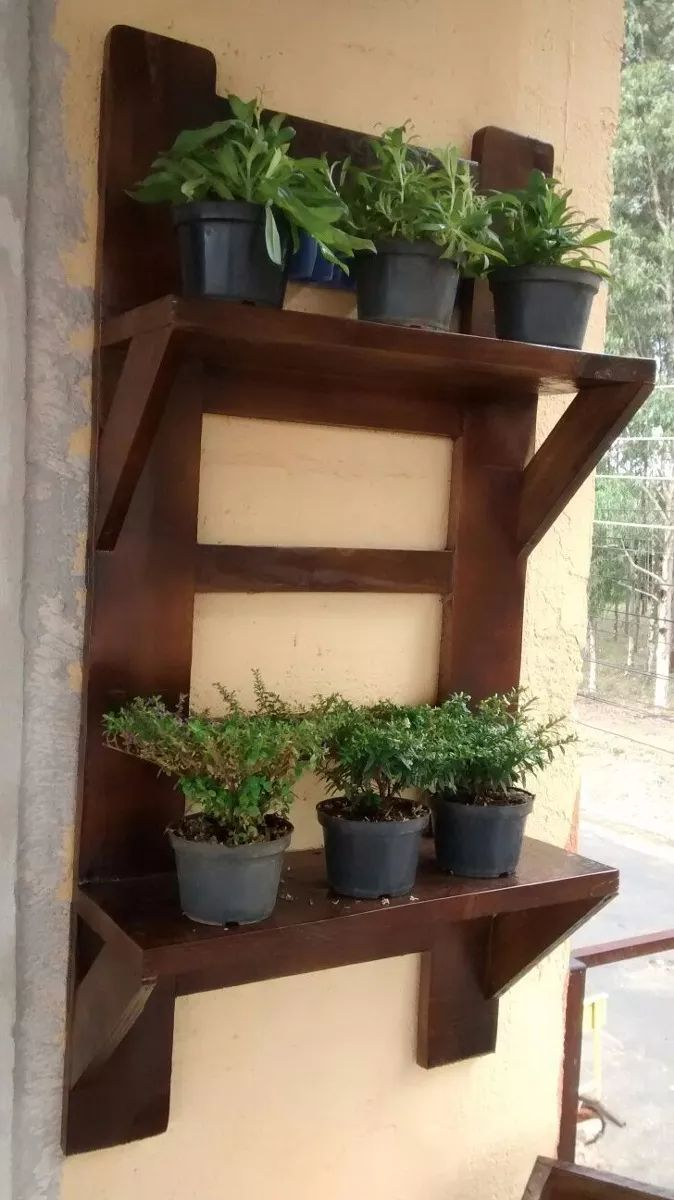 floreira jardim vertical cachepô 01 em madeira maciça