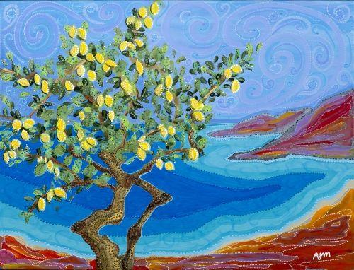 'Amalfi Lemons' by Kawartha Ontario painter & poet Annabelle Jane Murray…