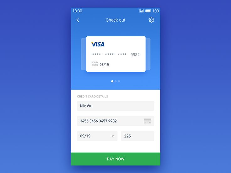 My second work for Daily UI , Credit Card Checkout~