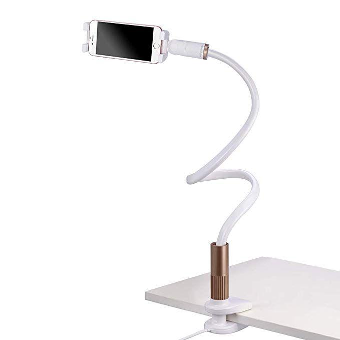 Amazon Com Avantree Cell Phone Holder Clip On Lamp For Bed Gooseneck Desk Lamp Led Light Universal Lazy Bracke Flexible Floor Lamp Lamp Gooseneck Floor Lamp