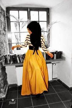 yellow skirt hijab fashion style inspiration