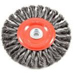 Forney 6 in. x 1/2 in. and 5/8 in. Arbor Twist Knot Crimped Wire Wheel Brush
