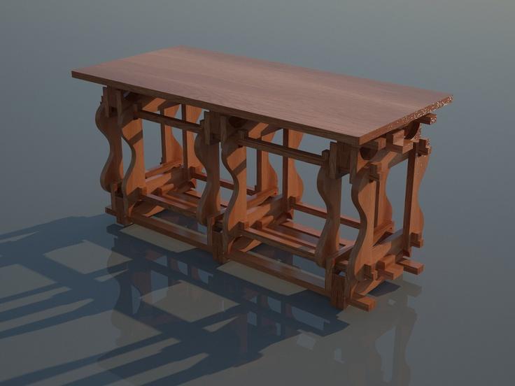 Autoprogettazione 2.0 - Arredamento modulare ottenuto dal taglio di lastre piane con pantografo a 2 assi e mezzo.