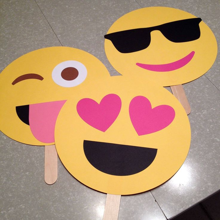 Emoji party faces - fun for a photo booth - see more at https://www.facebook.com/LiveItUpParties/?fref=photo