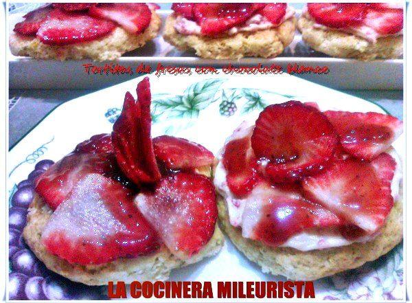 La Cocinera Mileurista: Tortitas de Fresas con Chocolate Blanco especial S...