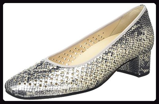 Hassia Verona, Weite H, Damen Pumps, Silber (7600 silber), 40 EU (6.5 Damen UK) - Damen pumps (*Partner-Link)