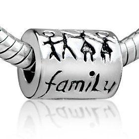 Pugster Family Charm Bead Fits Pandora Charm Bracelet, (pandora charms, pandora, pandora charm, gifts for mom, pandora beads, charm, bead bracelet, chamilia beads, mothers day, pandora charms and beads)