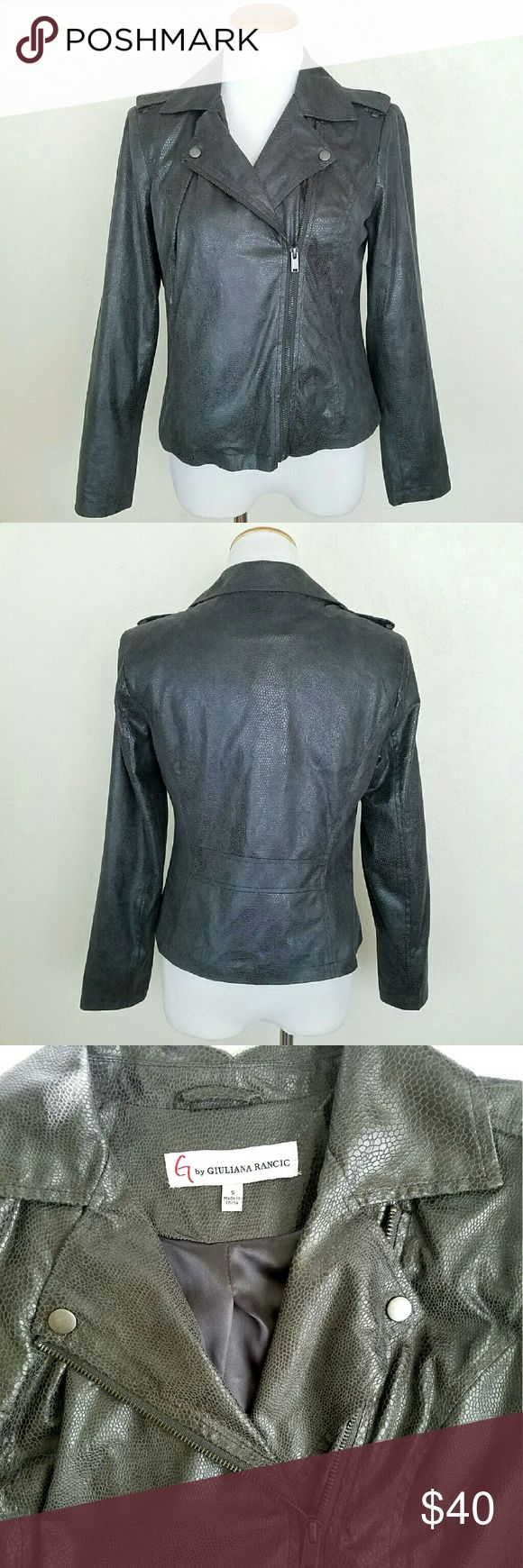 G by Giuliana Rancic Moto Jacket G by Giuliana Rancic Moto Jacket. Gray. NWOT.  Bust 20 Length 21  No Trade or PP Bundle discounts Offers Considered Giuliana Rancic Jackets & Coats