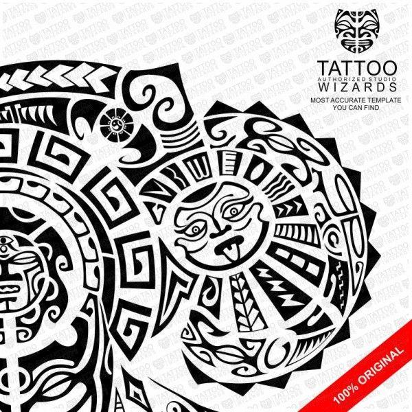 maori warrior of fury vector tattoo template stencil. Black Bedroom Furniture Sets. Home Design Ideas