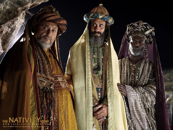 """The Three Wise Men from the Nativity Story movie..""""but that is hostile territory over the desert...I need my dates, my nuts, and my pillows...then bring them! I will supply extra camels for you...the next King was also reluctant: are you coming? no...but then he came, because...""""you would get lost without me!"""""""