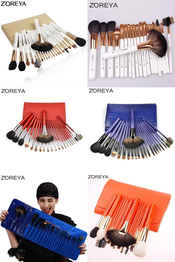 [Visit to Buy] ZOREYA Brand 22pcs Sable Hair Professional Makeup Brush Set High Quality Make Up Brushes Fan Powder Makeup Brushes Kit  #Advertisement