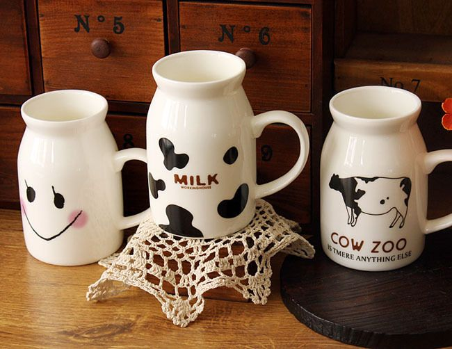 http://www.aliexpress.com/store/908135 Retail 2431 zakka cow ceramic smiley cup breakfast cup milk cup readily cup 255g-inWater Bottles from Home & Garden on Aliexpress.com