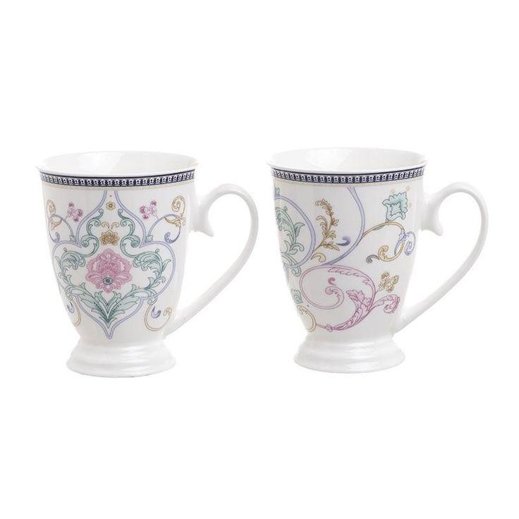 Porcelain Mug Set Of 2 Pieces - HOUSEHOLD - inart