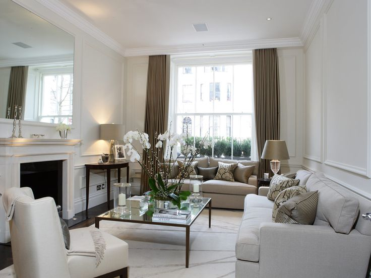 Panelling with silver and neutral accents