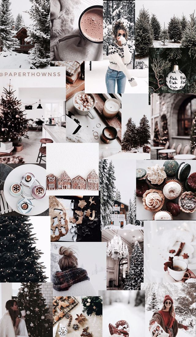 Christmas Collage Wallpaper By Paperthownss Christmas Wallpapers Tumblr Christmas Collage Holiday Wallpaper