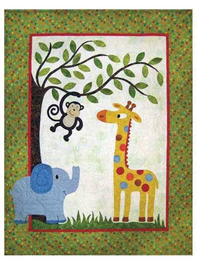 33 best Jungle quilt ideas images on Pinterest | Baby blankets ... : jungle theme baby quilt patterns - Adamdwight.com