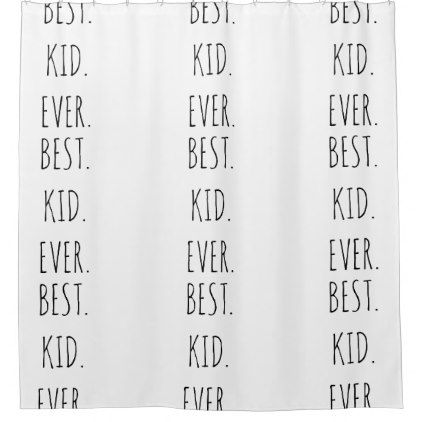 HIPSTER KIDS SHOWER CURTAIN BEST KID PRINT PATTERN - kids kid child gift idea diy personalize design