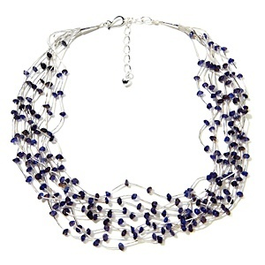 Jay King 10-Strand Liquid Silver Iolite Necklace at HSN.com.Liquid Silver, Jay King, King Jewelry, Silver Iolite, 10 Strand Liquid, King 10 Strand, Iolite Necklaces, Beads Jewelry, Products