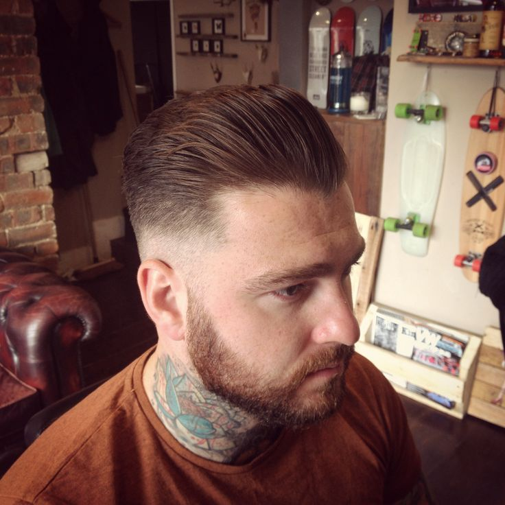 Medium pompadour - Finished with Uppercut Deluxe Pomade