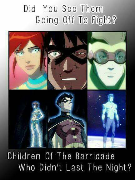 I wish young justice would have told more about them, and gotten a season 3 so we could see what happened to Wally
