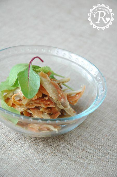 ごぼうとにんじんのサラダ | 美肌レシピ