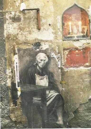 Ernest Pignon Ernest Naples 1995 veilleuse de la mort de la vierge