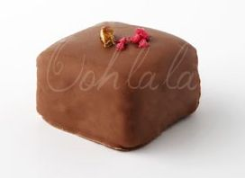Rose Pistachio Marshmallow Enrobed in Belgian Milk Chocolate. www.oohlalaconfectionery.com https://www.facebook.com/pages/Ooh-La-La-Confectionery/552525188122576